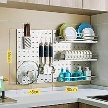 Multifunctional Kitchen Storage Rack Storage Shelf 304 Stainless Steel Kitchen Shelves Wall-Mounted Drain Dish Rack Season...