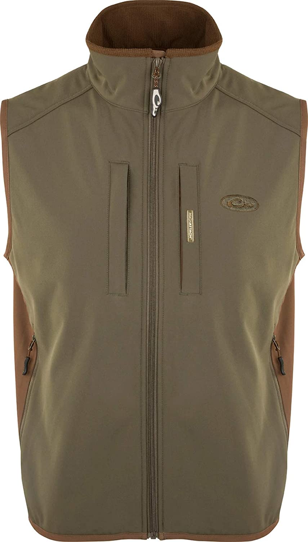 Windproof Tech depot Vest Brown Manufacturer regenerated product Xlarge Olive