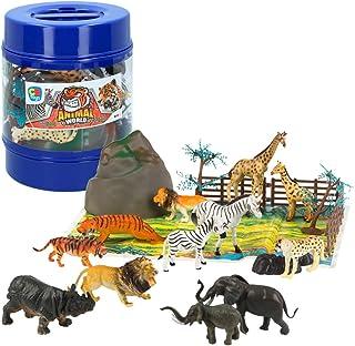 ColorBaby -  Bote con animales salvajes Animal World,  22 piezas (43433)