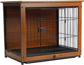 Dog Cage قفص الحيوانات الأليفة مع قفص الغطاء كلب قفص داخلي الكلب السياج المنزلية الكلب السرير القط أرنب قفص Puppy and Smal...