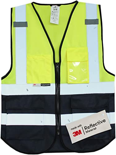 Salzmann Gilet de Sécurité/Gilet de Travail/Veste de Haute Visibilité fabriqué avec Matériau Scotchlite 3M Réfléchiss...