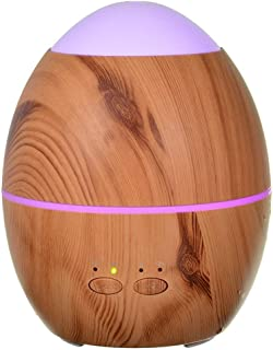 Wood Grain Aromatherapy Diffusers, 300ml Ultrasonic Aroma Diffuser with 7 Colorful LED Lights, Cool Mist Humidifiers and W...