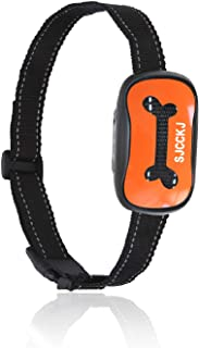 SJCCKJ [Newest 2019 Rechargeable Bark Collar – Upgraded Smart Humane Dog Anti-Barking Device – Vibration, Beep Mode for Small, Medium, Large Dogs All Breeds – IPX5 Waterproof
