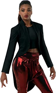 Balera Jacket Womens Tailcoat for Dance Long Sleeve Stretch Blazer with Long Tails and Stand Up Collar