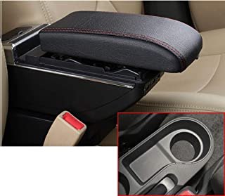 SLONG for Hyundai Solaris 2/Accent/Verna 17-18 High-End Car Armrest Center Console Accessories with 7 USB Charging Ports Built-in LED Light Cup Holder Removable Ashtray Black