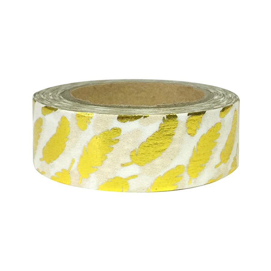 AllyDrew Washi Tapes Decorative Masking Tapes, Gold Feathers
