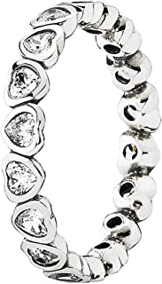 Pandora Women's Sterling Silver Cubic Zirconia Ring - Size US 7