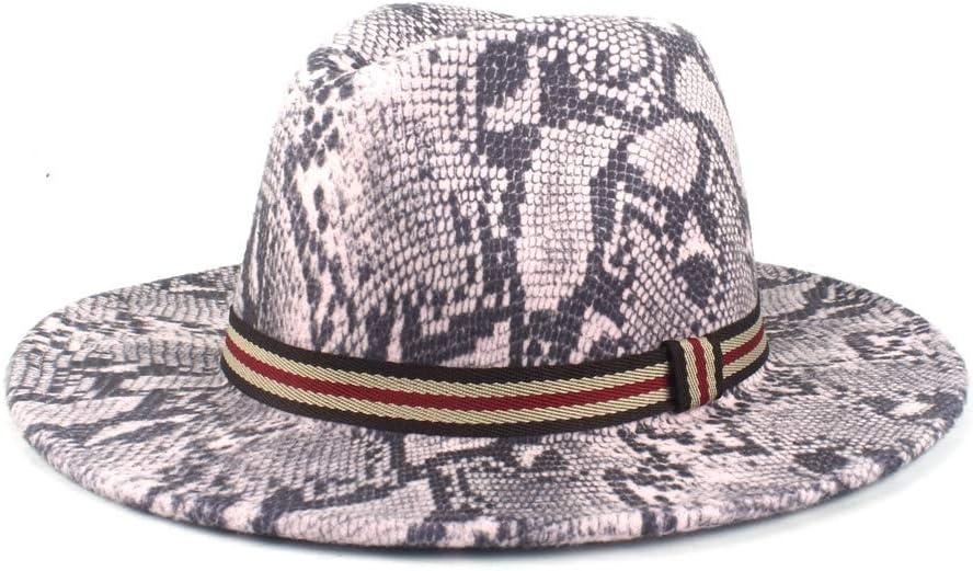HXGAZXJQ Panamanian Women Winter Wide-Brimmed Felt Church Jazz Hat Fedora Hat Wool Polyester Men's Elegant Ribbon Hat (Color : 5, Size : 56-58cm)