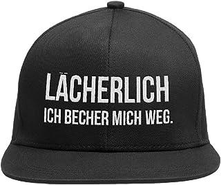 """Snapback Cap verstellbar - Baseball Kappe für Damen und Herren """"LÄCHERLICH - ICH BECHER MICH WEG"""" THEGOODVIBES - Für einen lässigen Urban Look"""