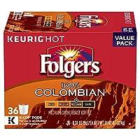 Folgers Black Silk Keurig Dark roast coffee K-Cups フォルジャーズコロンビアミディアムダークローストケリーグKカップ36杯分 [並行輸入品]