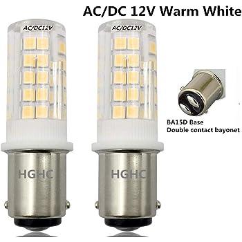 Bonlux 2-packs 1.5W 220V BA15D LED Bombilla para la Iluminación de Máquina de Coser, El Refrigerador con 70 Lúmenes ...