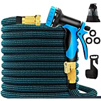 Carsun 50 ft Expandable Garden Hose with 9 Function Nozzle