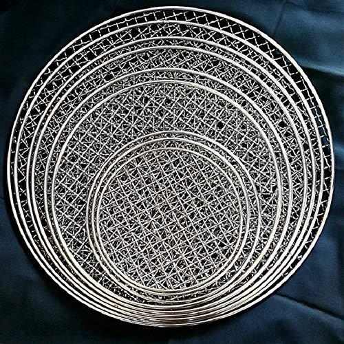 Clenp Grillregale - Runder Grillrost Aus Rostfreiem Stahl Mit Gebratenem Maschennetz Antihaft-Grillbackform Black 15cm