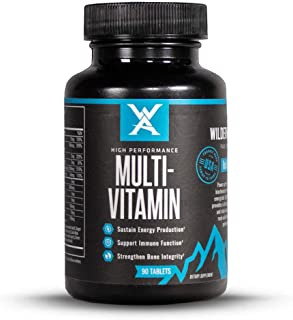 Wilderness Athlete: High Performance Multi-Vitamin, 90 Count Bottle, Pure Vitamins, Chelated Minerals, Nutrient Cofactors,...