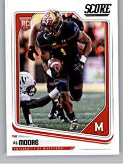 2018 Score #384 D.J. Moore Maryland Terrapins Rookie RC Football Card