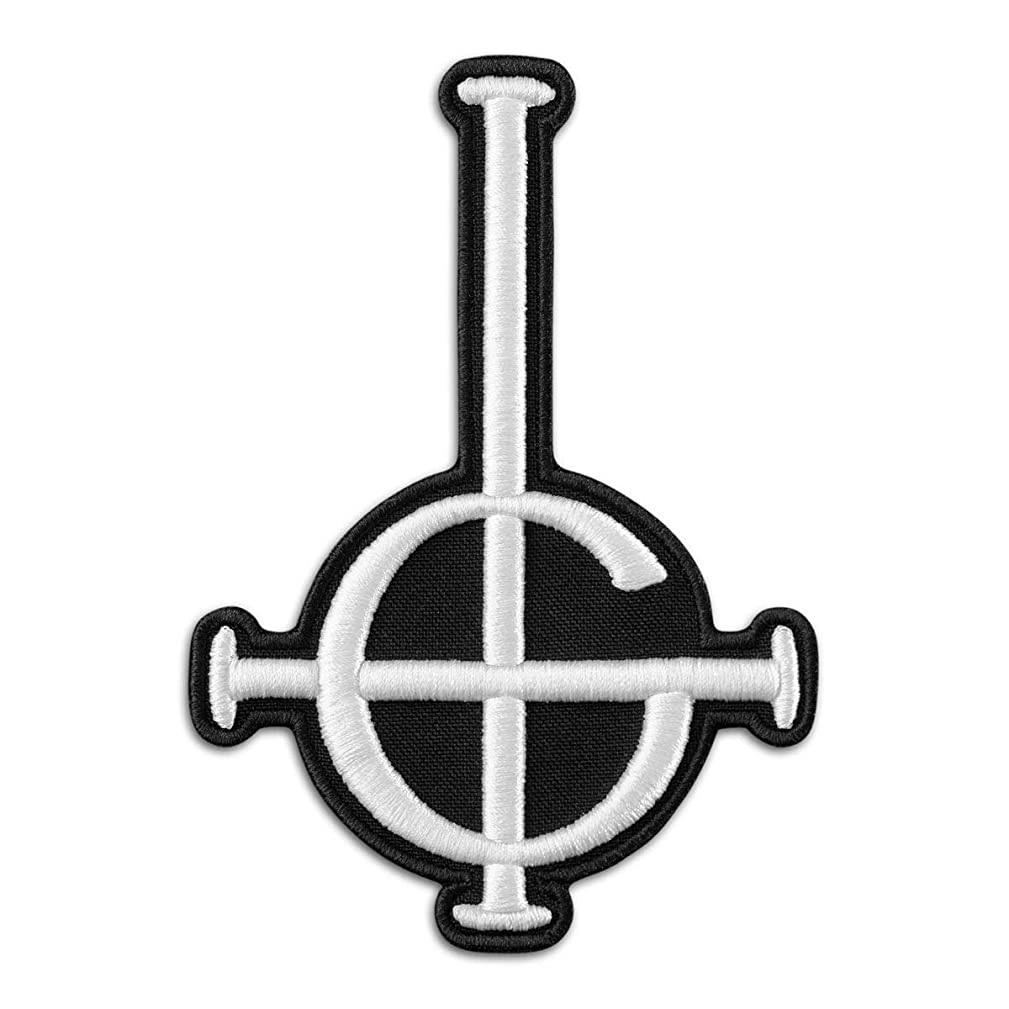 Ghost BC Grucific Symbol 3D Puff Embroidered Patch/Heavy Metal Doom Hard Rock Band (3.5