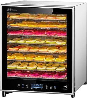JUAN Food Dehydrator, Electric Digital Screen Adjustable Temperature Timing Mute 8 Layer Stainless Steel Tray Dry Food Mac...
