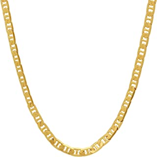 bar link anchor chain necklace