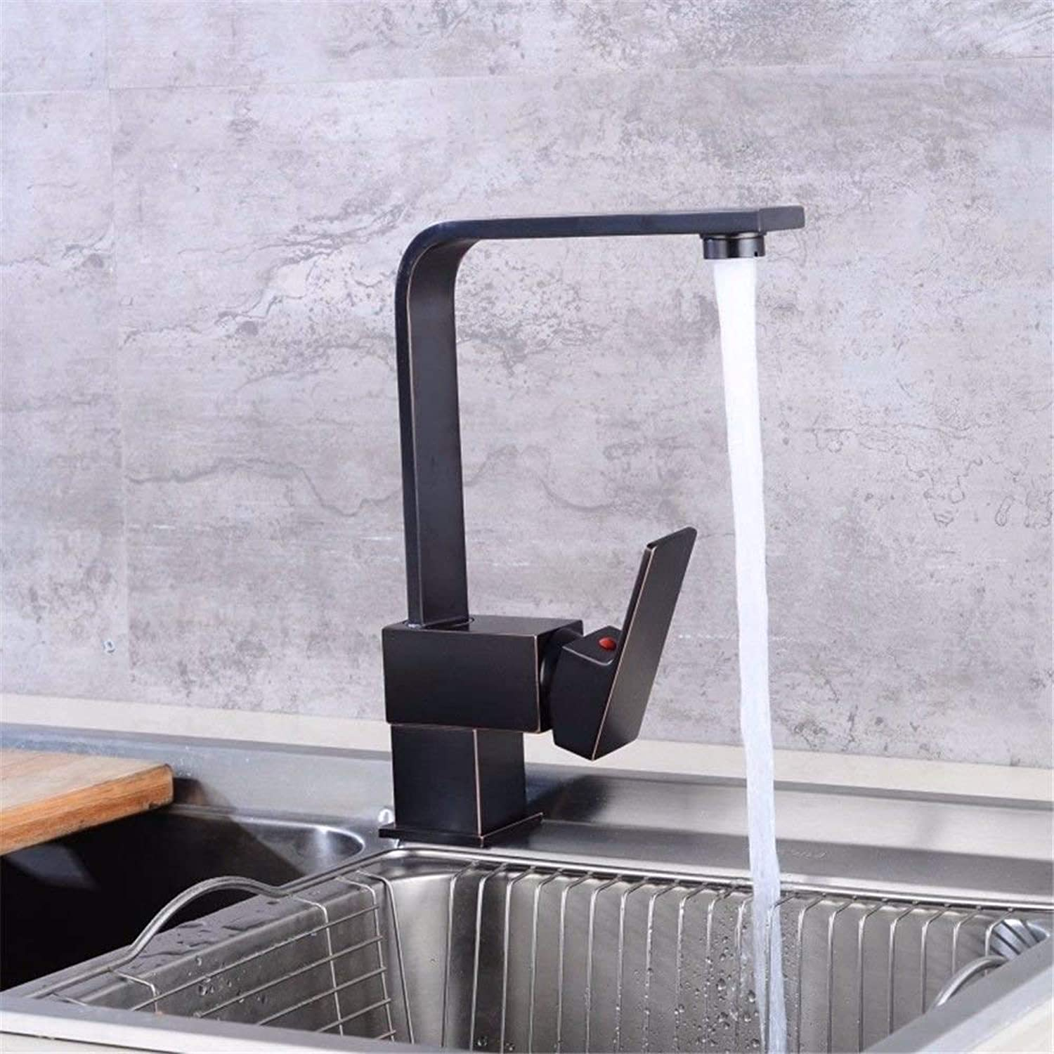 Kitchen Sink taps Black s hot and Cold Solid Brushed Brass Sink Faucet (color   -, Size   -)