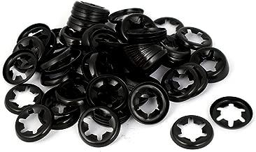 HONJIE M8 Starlock Push On Locking Washers Speed Clips Fasteners Black Oxide Finish-100pcs