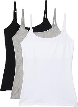 Organic Cotton Shelf Bra Camisole 3-Pack