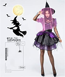 JJAIR Women's Crafty Vixen, Wicked Witch Women's Halloween Costume Sexy Spellcaster Classic Fairytale Dress Adult Erotic Clothing