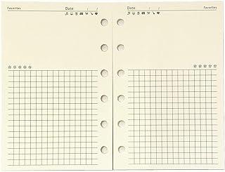 A7 Planner Refill, A7 Agenda Refill Diary Note Paper for Filofax,6 Hole/100gsm,4.84 x 3.23'', Harphia