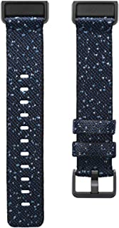 Fitbit Charge 4 Accessory Band, Official Fitbit Product, Woven, Midnight, Large