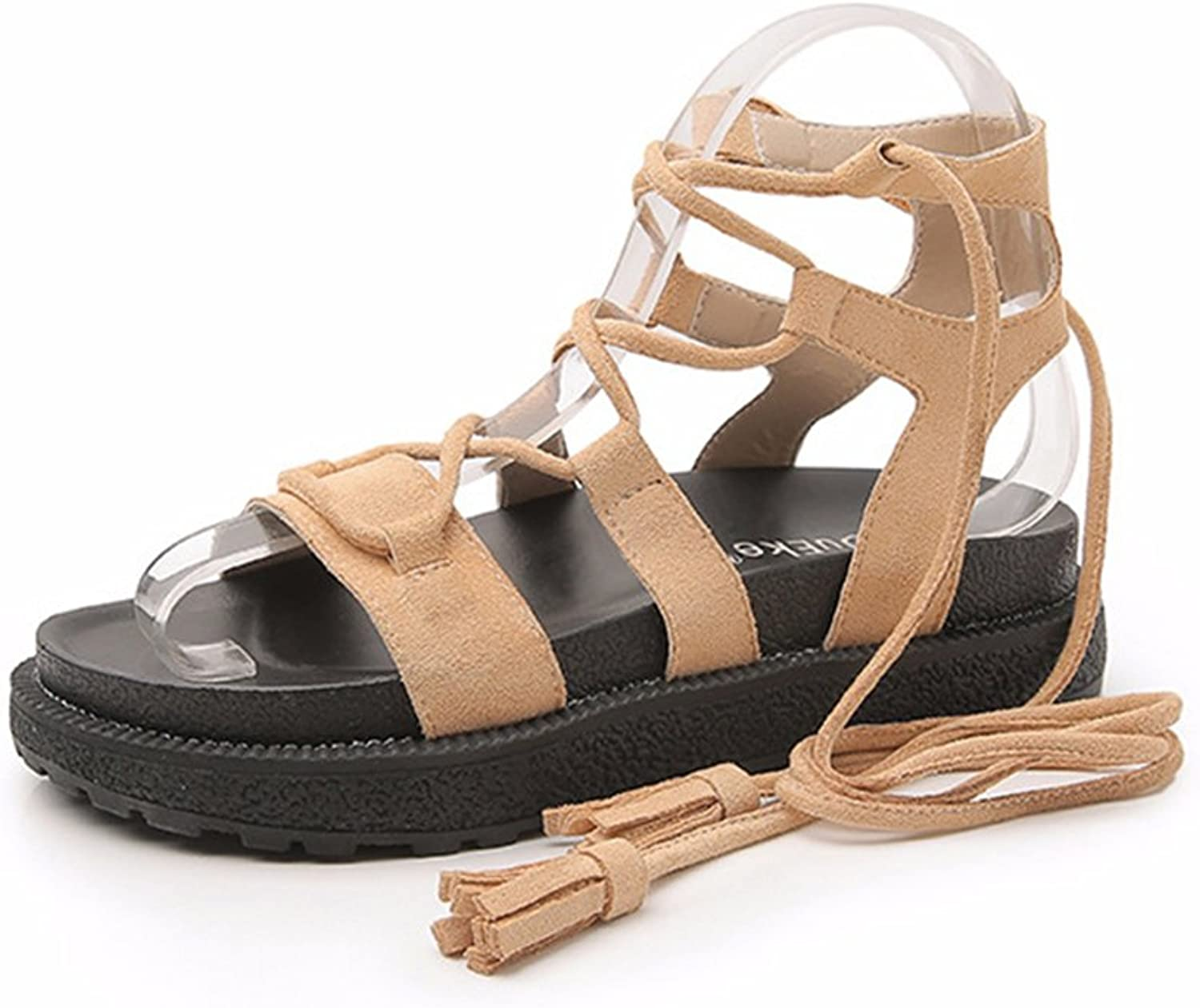 Tuoup Women's Skidproof Stylish Leather Sandals Sandles