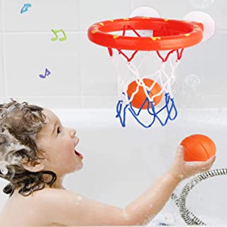 Bathing Toy Bathtub Basketball Hoop, Suitable for Preschool Children, The Suction Cup is Easy to Install, There are Fun Ga...