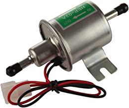 MIDIYA HEP-02A High Pressure (4-7 PSI) Universal 12V Heavy Duty Gas Diesel Inline Electric Fuel Pump Metal Solid Petro Gasoline or Diesel Engine
