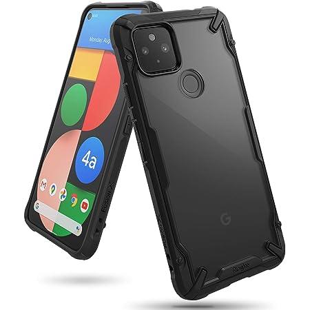 【Ringke】Google Pixel 4a 5G ケース ストラップホール アーマー ケース [米軍MIL規格取得] クリア 透明 落下防止 スマホケース カバー Qi ワイヤレス充電対応 Fusion-X (Black ブラック)