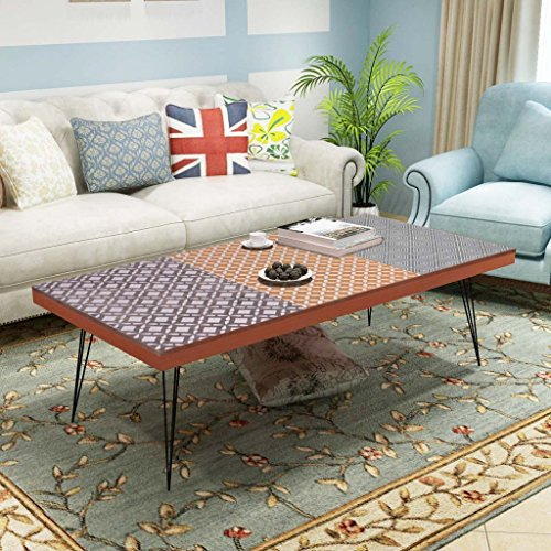 Festnight Table Basse Design Scandinavee en MDF Meuble Banc TV 120 x 60 x 38 CM