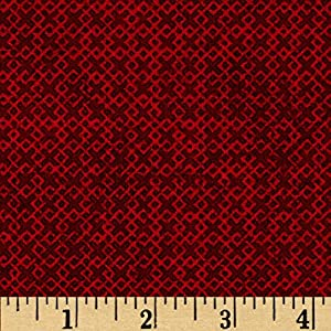 "Wilmington Prints 108"" Wide Essentials Criss Cross Quilt Backing Fabric by The Yard, Red"