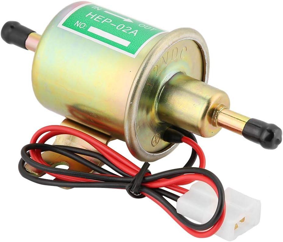 Kit de bomba de combustible, HEP-02A 12/24V Bomba de combustible eléctrica de baja presión Bomba de gasolina con kit de instalación