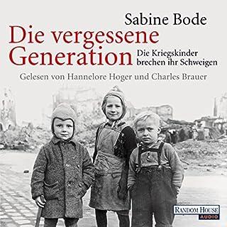 Die vergessene Generation cover art