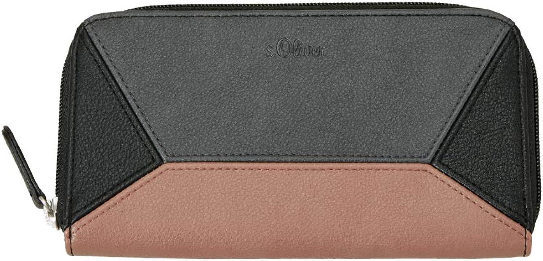 S.Oliver rot LABEL Damen Zip Wallet im Colourblocking-Design schwarz schwarz schwarz 1 B07L7HPY3R 894c7d