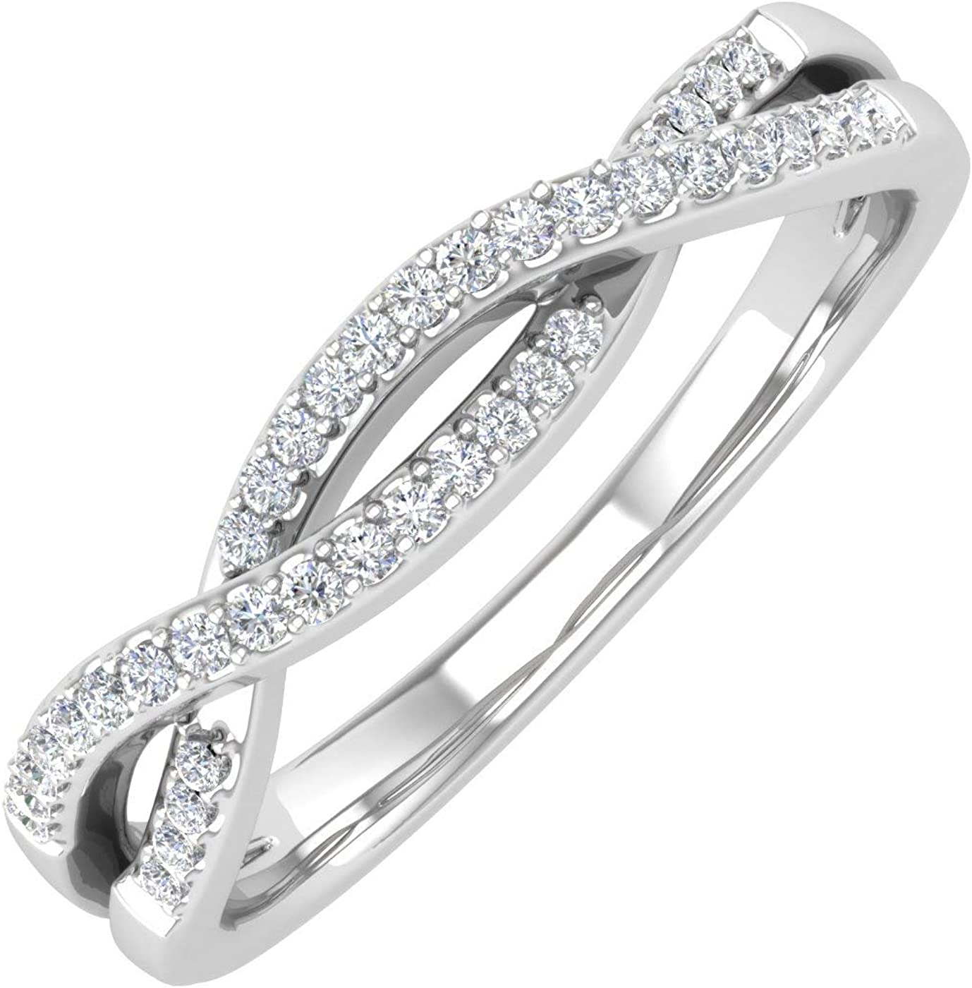 10K Gold Diamond Twisted 70% OFF Outlet Wedding Band Ring Carat OFFicial 0.13