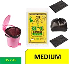 Ranco Poly Bags ™ Garbage Bags Medium Size Black Color For Home & Kitchen(35x45 INCH,Pack of 60)