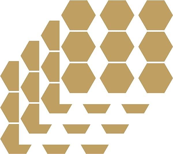 JURUOXIN Honeycomb Wall Decals Vinyl Hexagon Pattern Sticker For Kids Boy Girl Living Room Bedroom Art Decoration Home Decor Nursery YMX30 Matte Gold 8 5CMx36pcs