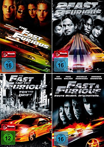 The Fast and the Furious 1 - 4 Bundle [4-DVD] Keine Box