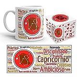 Kembilove Taza de Desayuno Horóscopo de Capricornio – Taza de café de Signo del Zodiaco Capricornio – Tazas de Café y Té Horóscopo Capricornio – Regalo Original para Parejas, Cumpleaños, Amigos