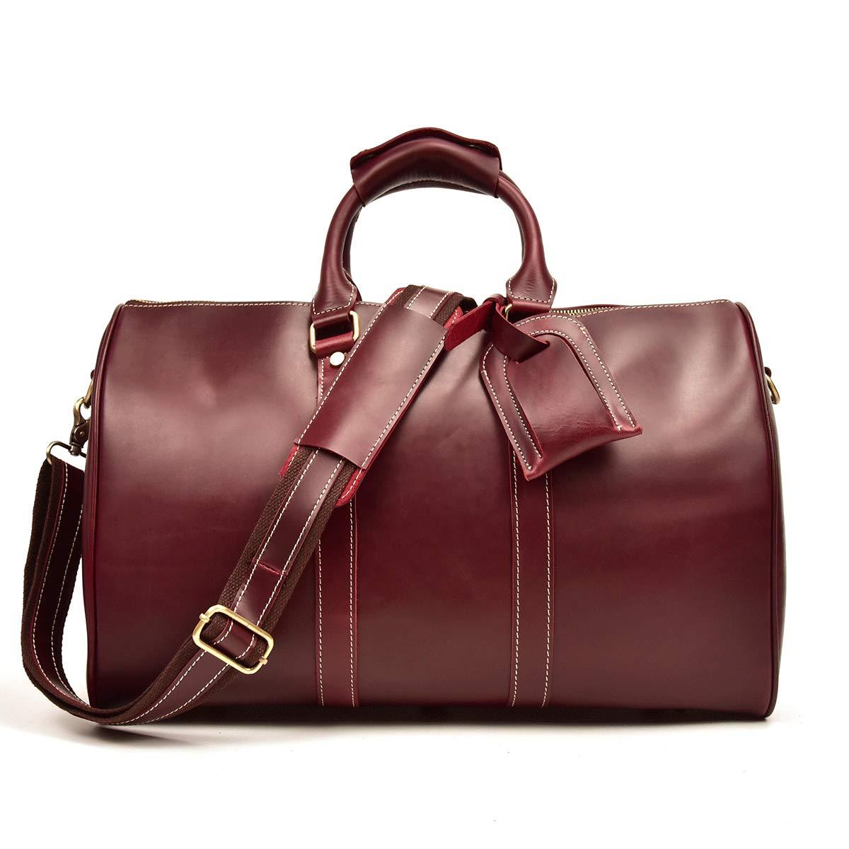 聡明理想的には鎮静剤本革 ボストンバッグ メンズ 機内持ち込み 旅行鞄 レザー トラベルバッグ 大容量 2way 耐久 レトロ 牛革 ゴルフバッグ 旅行バッグ 45cm