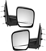 Manual Side View Mirrors Dual Glass Paddle Type Driver and Passenger Replacements for 03-09 Ford E-Series Van 3C2Z17683FAA 3C2Z17682FAA