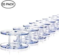 EVERMARKET Transparent Style 15J Sewing Machine Bobbins for Singer (20 Pack)
