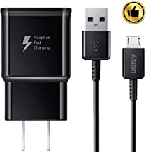 Galaxy S7 Adaptive Fast Charging Wall Charger Kit Set with Micro 2.0 USB Cable, Compatible with Galaxy S7/S7 Edge/S6/Note5/4 /S3 (Black)