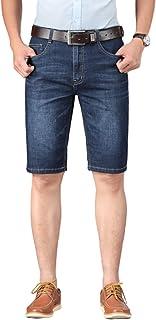 Pantalones Cortos de Mezclilla para Hombre Pantalones de Cinco Puntos Informales de Moda Transpirables de Color sólido de ...
