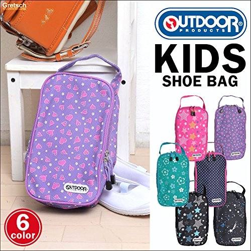 [アウトドアプロダクツ]OUTDOORPRODUCTSシューズバッグ女の子男の子持ち手通園通学シューズケース裏地付き靴入れ