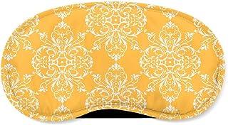 Yellow Retro Damask Sleeping Mask - Sleeping Mask