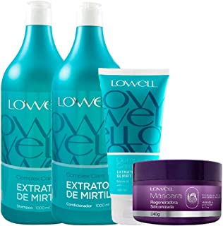 Kit Lowell Complex Care Mirtilo Salon + Máscara Regeneradora